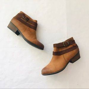 Clarks brown ankle boots